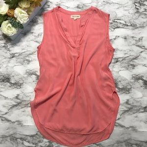 Anthropologie Cloth & Stone Coral Pink Top